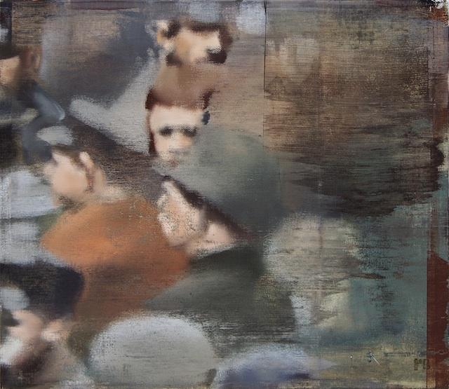 "Somebody's Ancestors, Oil on Linen on Panel, 2007, 26"" x 30"""