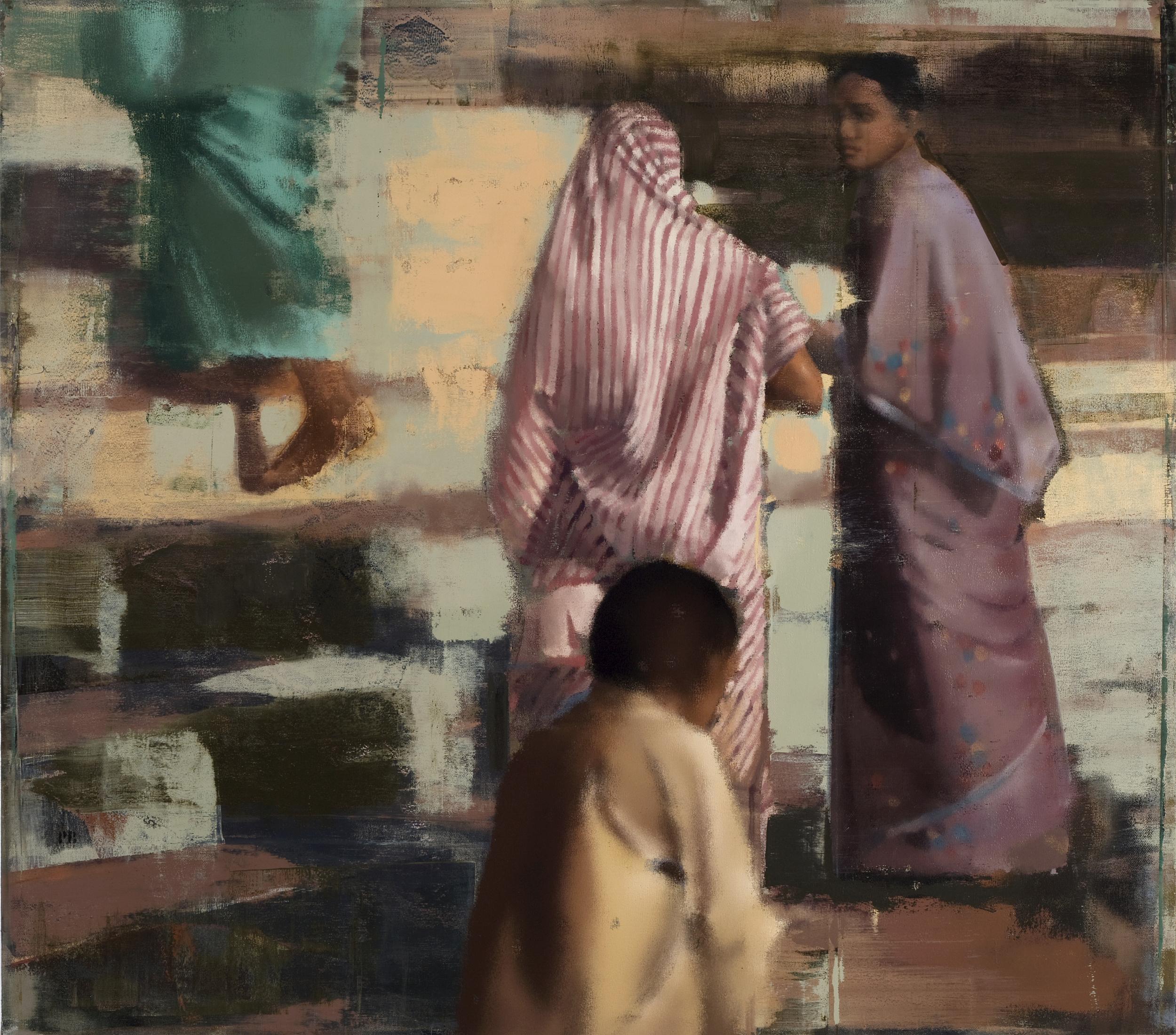 "The Steps, Oil on Linen on Panel, 2008, 60"" x 68"""
