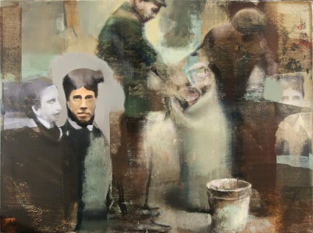 """Ancestry, Oil on Linen on Panel, 2007, 60"""" x 80"""""""