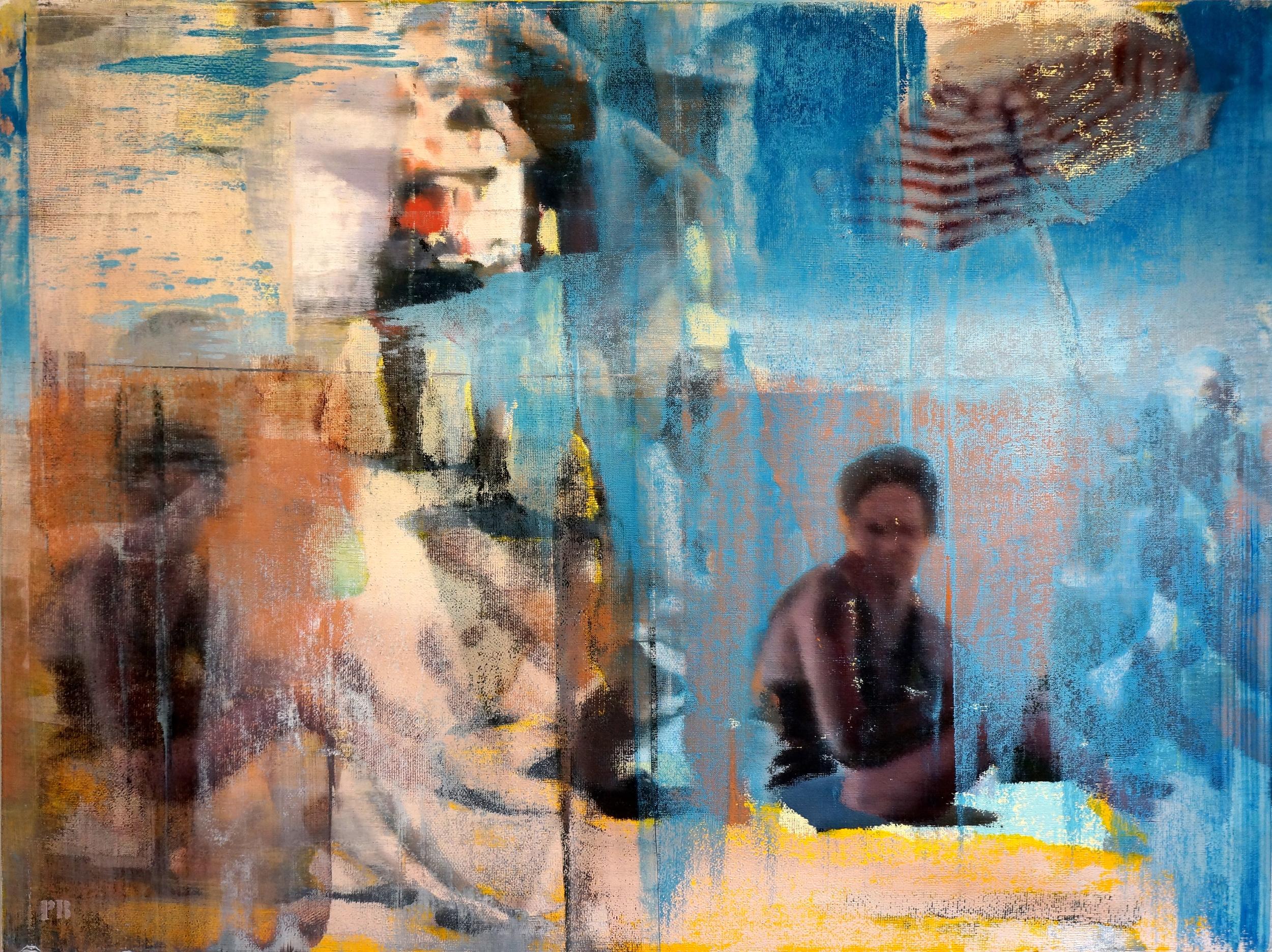 """Summer Day, Oil on Linen on Panel, 2014, 36"""" x 48"""""""