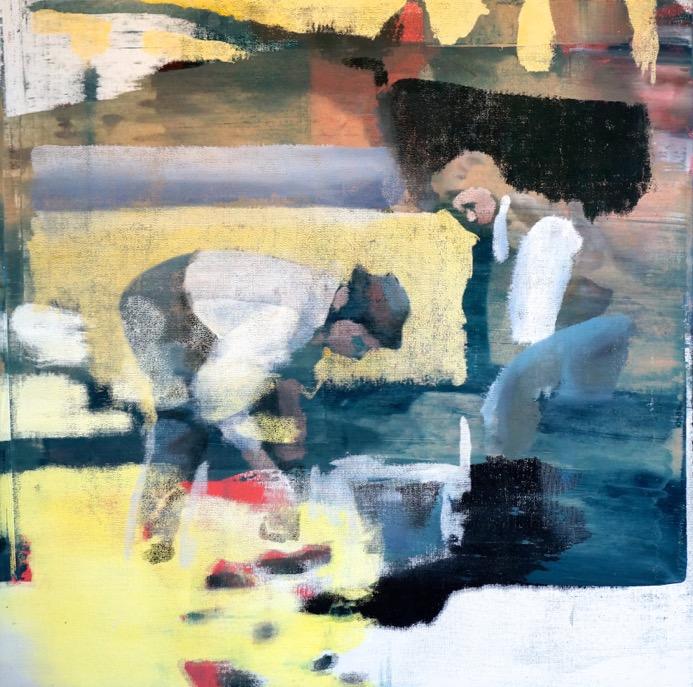 """Study, Oil on Linen on Panel, 2015, 48"""" x 48"""""""