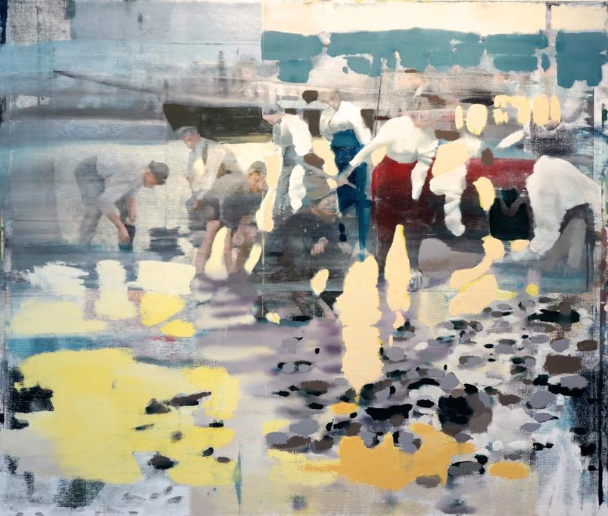 """Water's Edge, Oil on Linen on Panel, 2015, 68"""" x 80"""""""