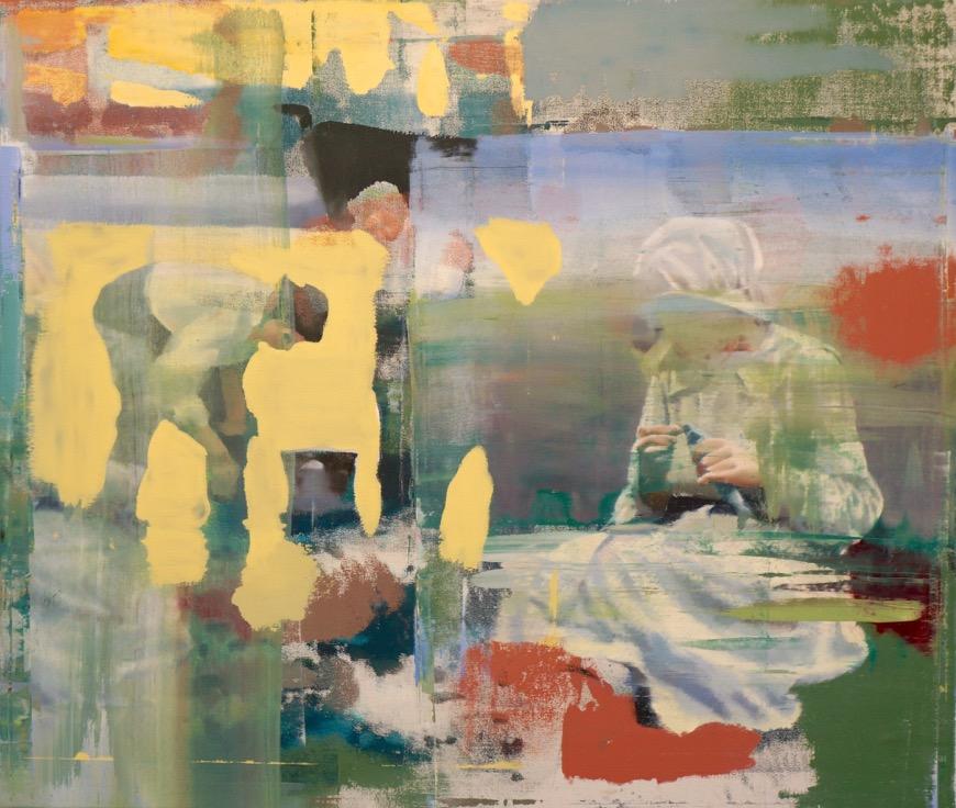 "Care, Oil on Linen on Panel, 2015, 68"" x 80"""