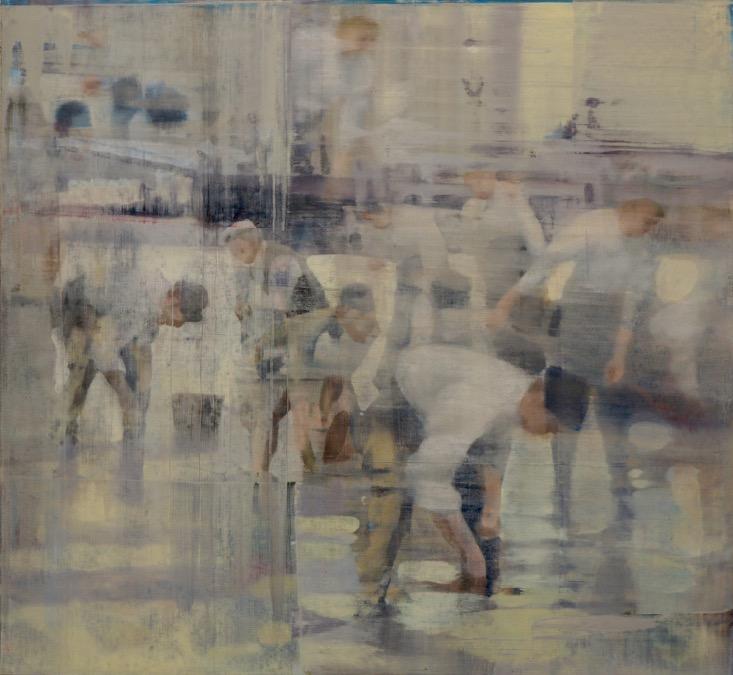 "Fog, Oil on Linen on Panel, 2015, 48"" x 52"""