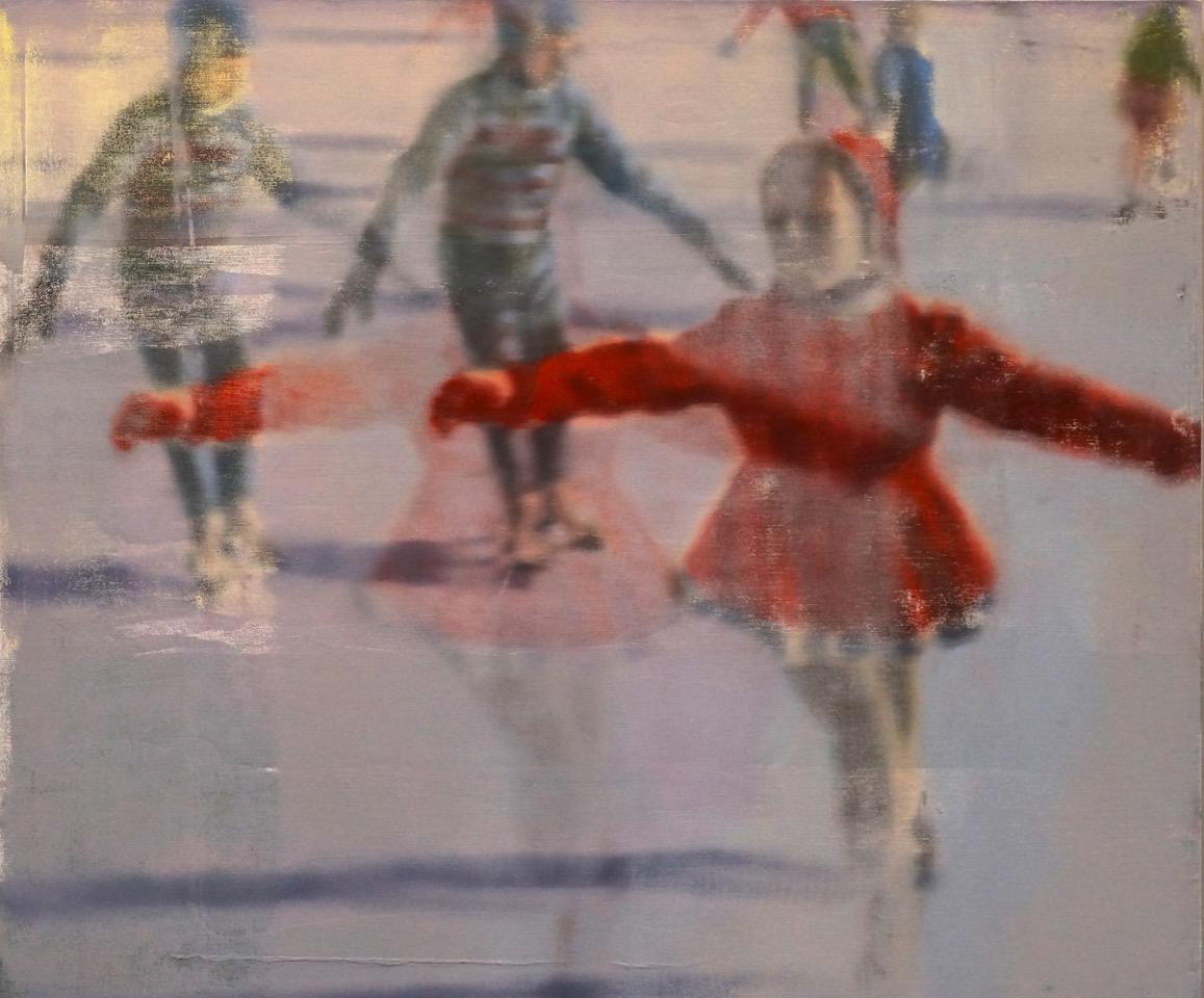 """Ice, Oil on Linen on Panel, 2016, 40"""" x 48"""""""