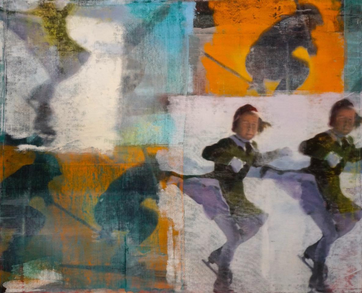 "Jumpers, Oil on Linen on Panel, 2016, 65"" x 80"""