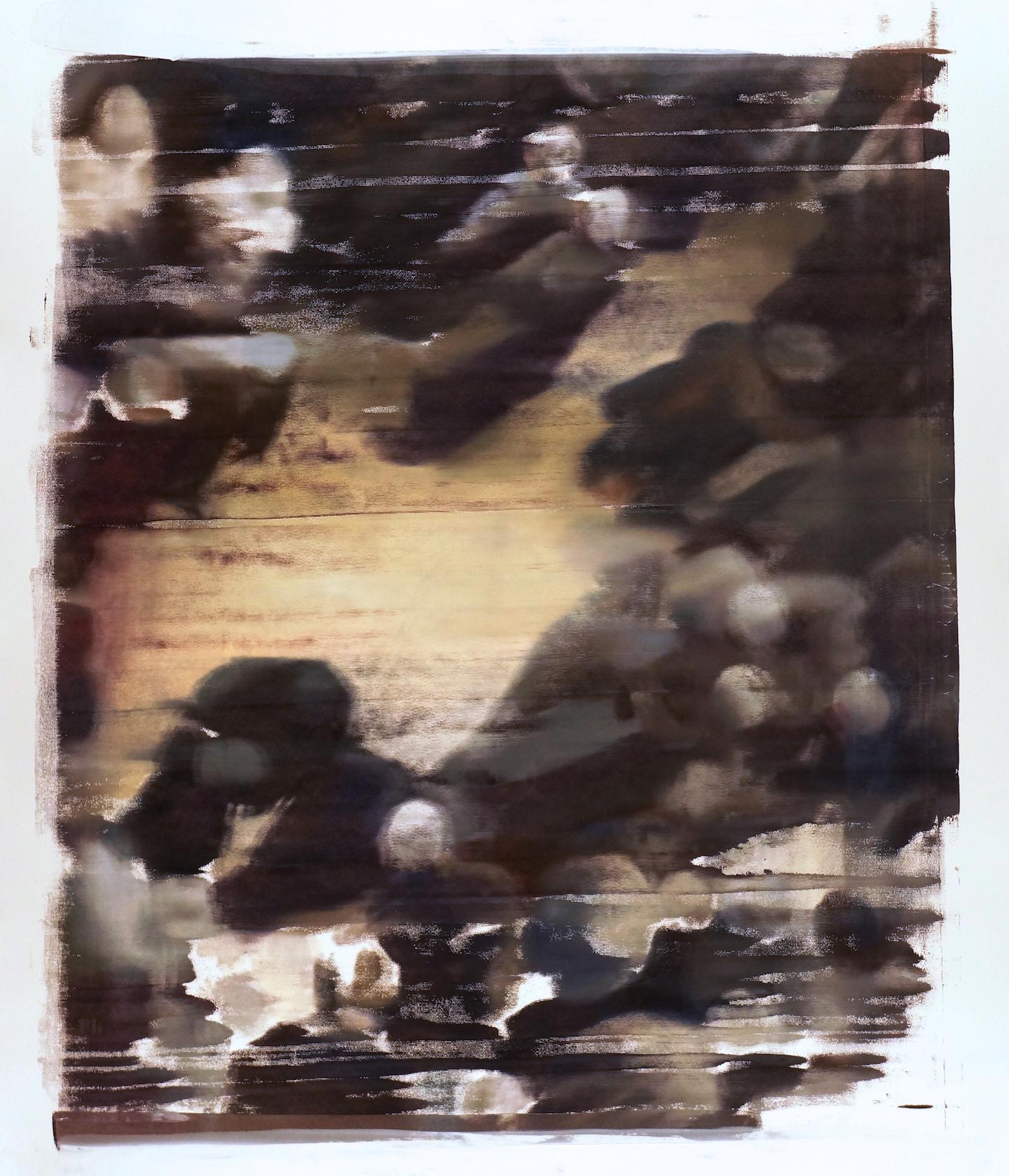 Buller I 2017 I Space in the Crowd I 60x51 OD I Oil on Resin Paper