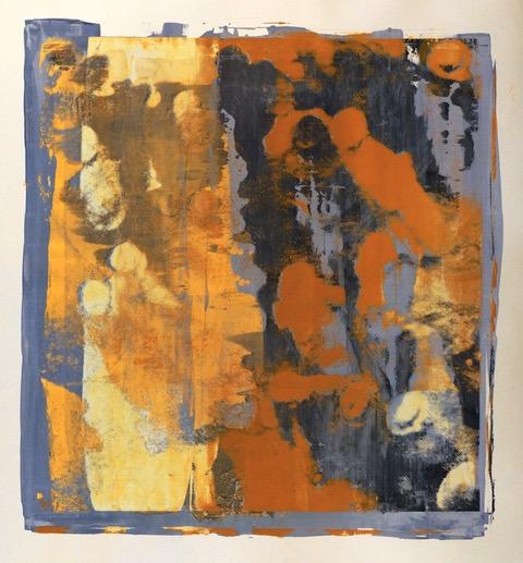 Buller I 2017 I Time Trace I 51 x 48 I Oil on Resin Paper