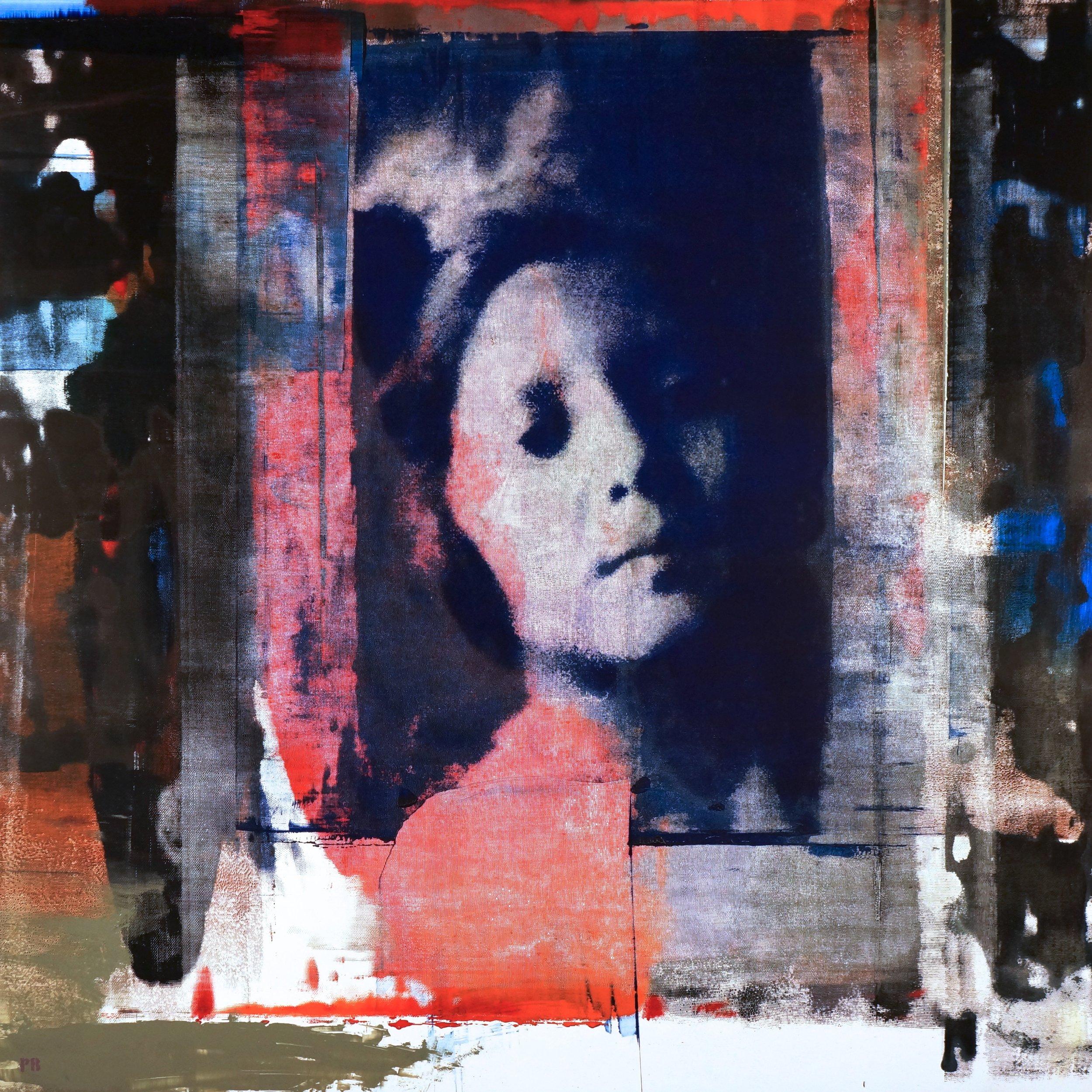 """""""Gitana,"""" Philip Buller, 60″ x 60″"""