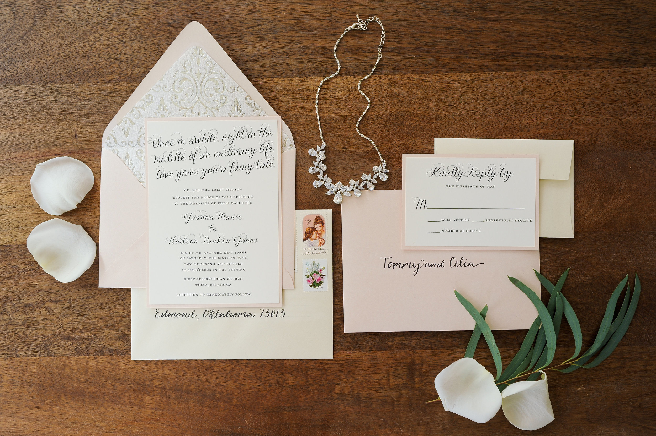 Modern Cinderella Wedding Invitation