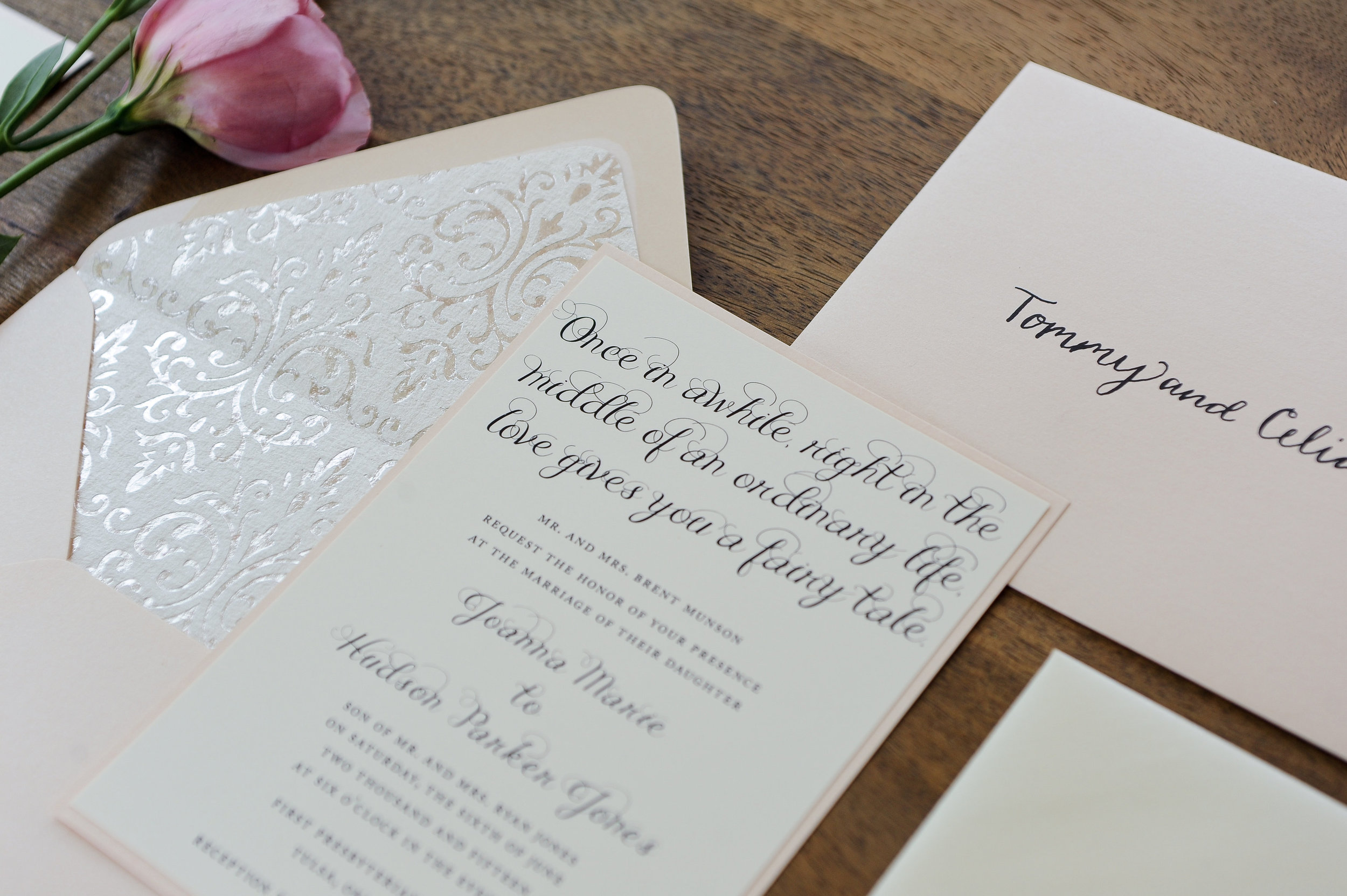 Modern Cinderella Wedding Invitation