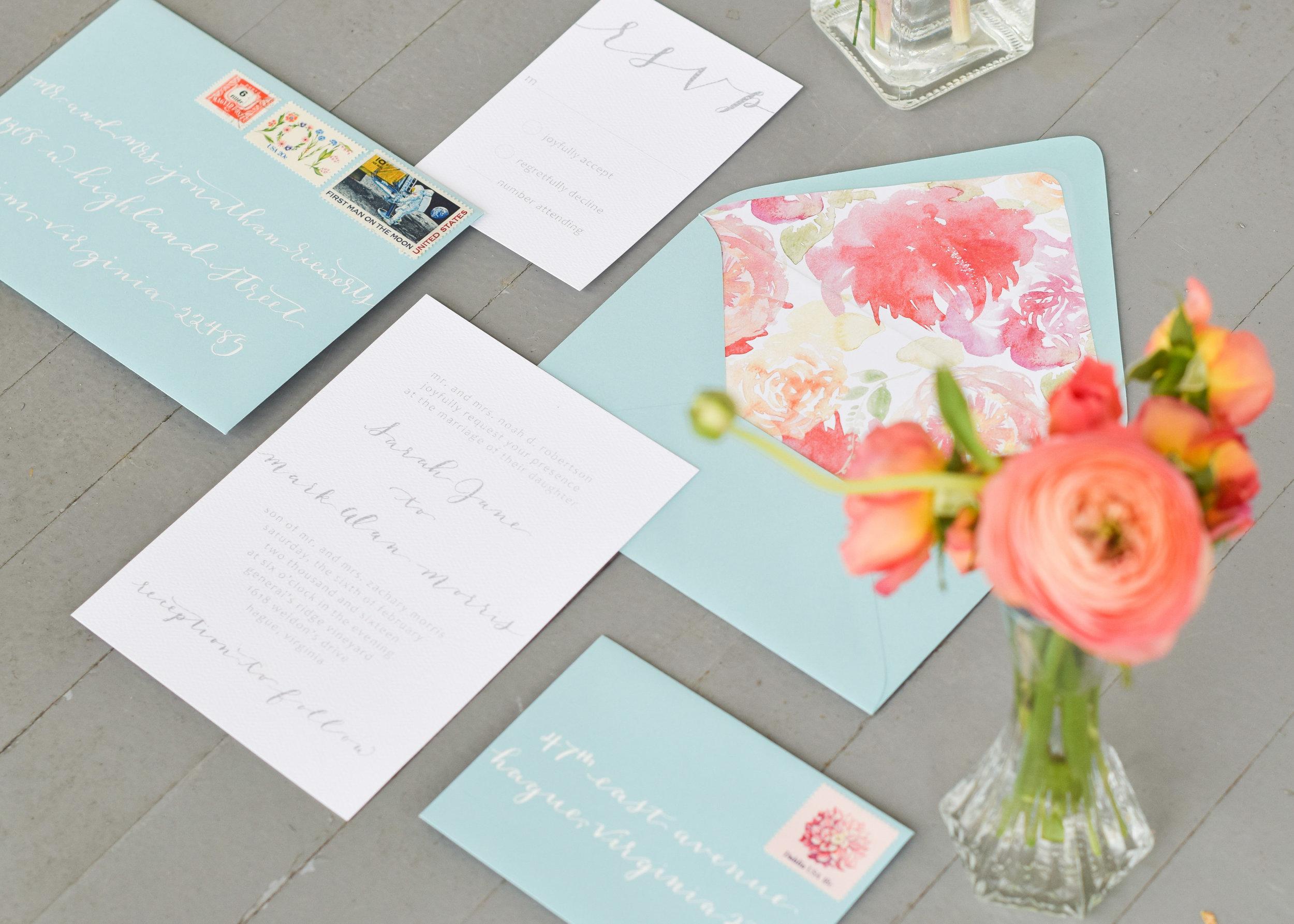 Modern Classic Wedding Invitation Suite
