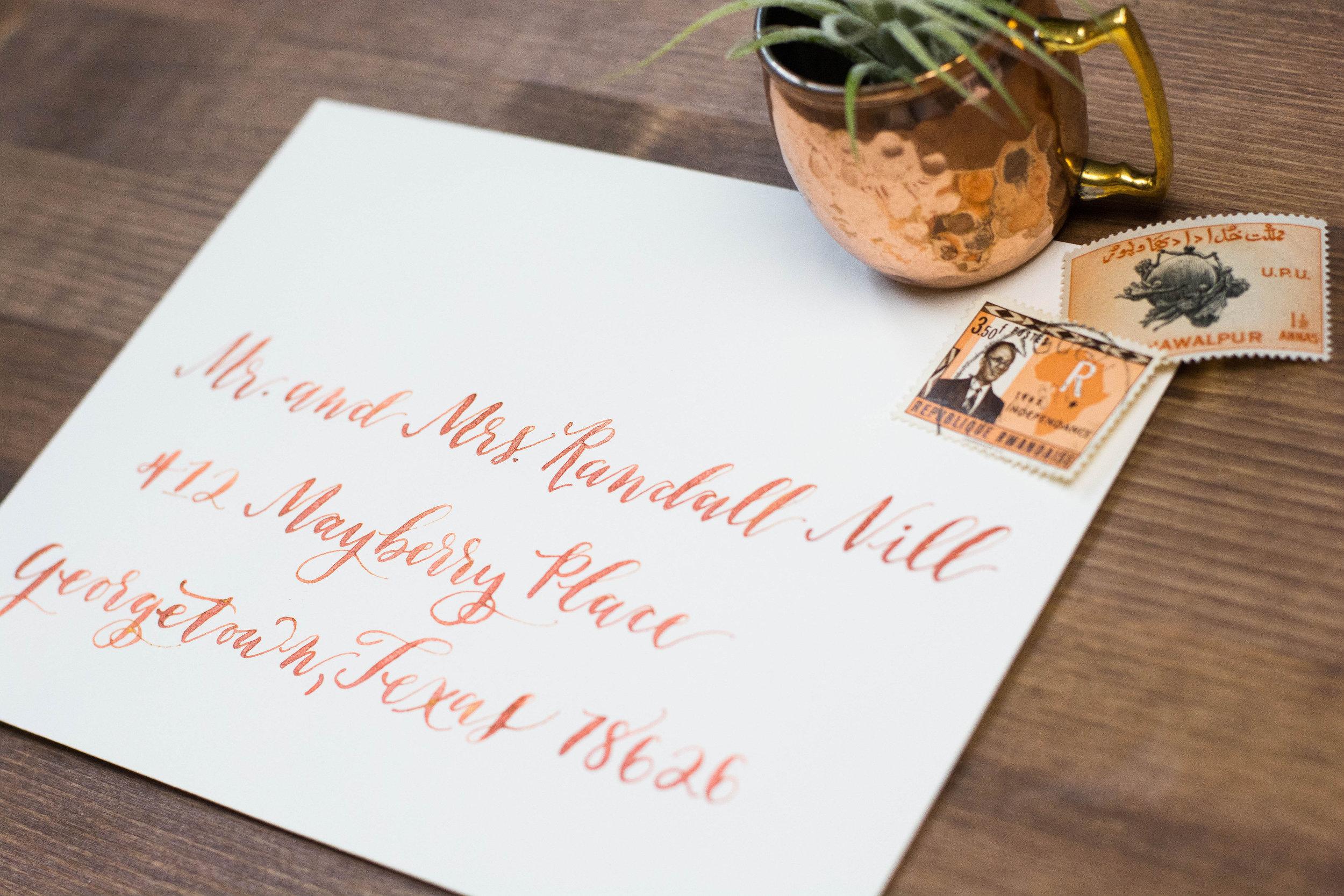 Copper Modern Calligraphy