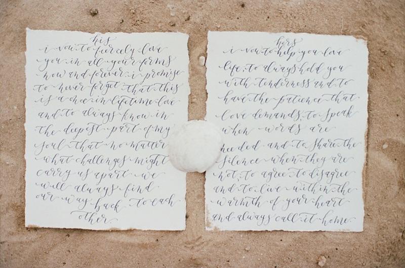 Handwritten, Calligraphy Wedding Vows