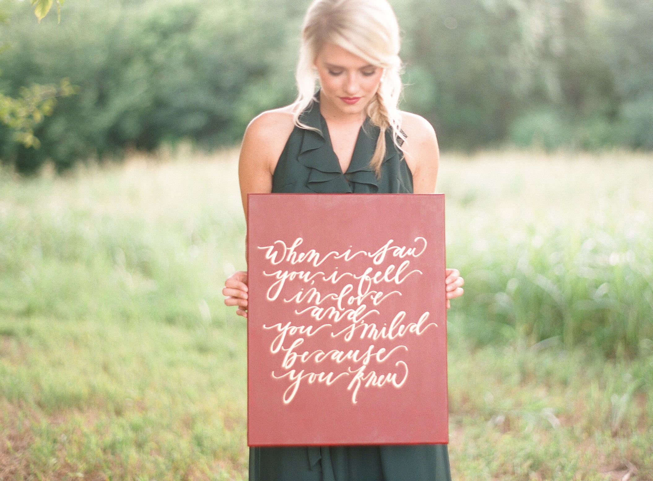 Gold Calligraphy Canvas Quote