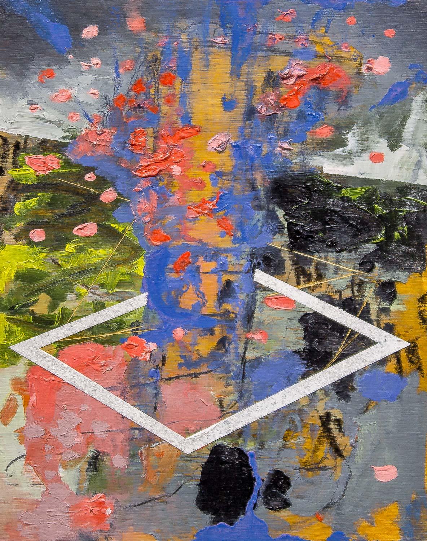 "Untitled , 2016 Oil on panel 8 x 10"""