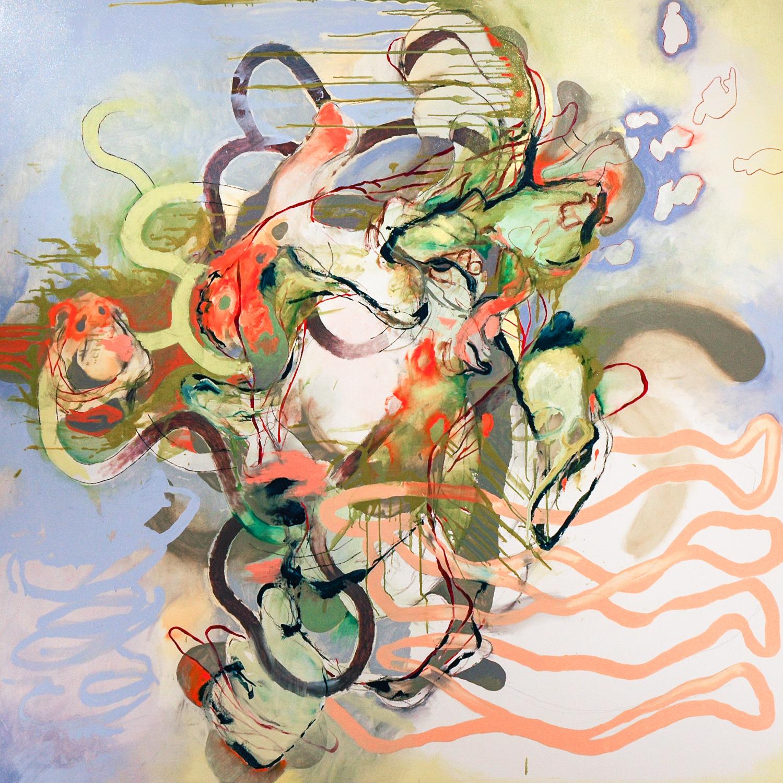 """Untitled (Laocoön Series) , 2009 Oil on canvas 72 x 72"""""""