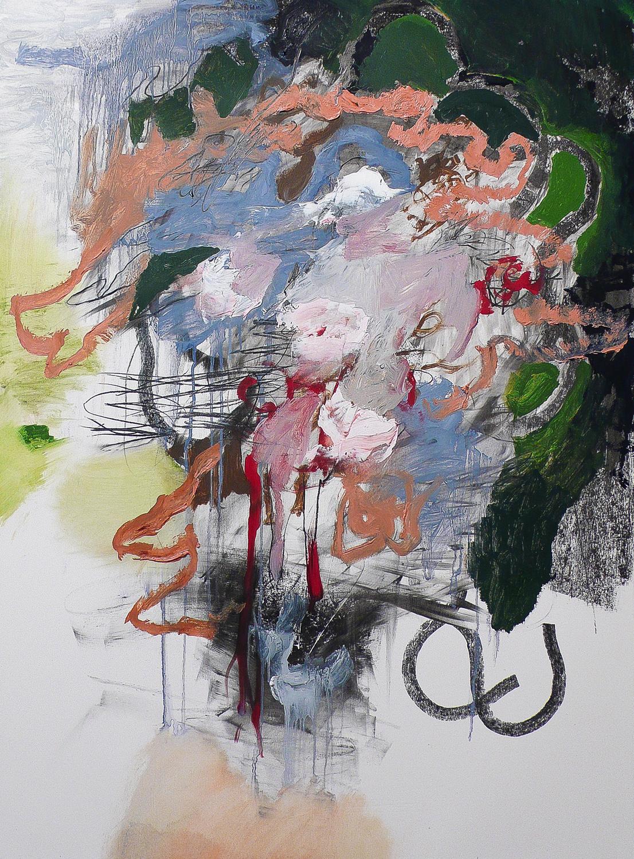 "Untitled (Laocoön Series) , 2009 Oil on paper 30 x 22"""