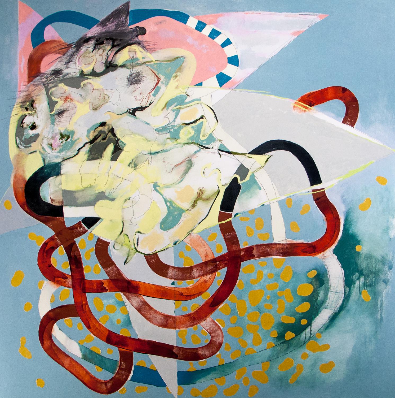 """Keel (Laocoön Series) , 2009 Oil on canvas 62 x 62"""""""