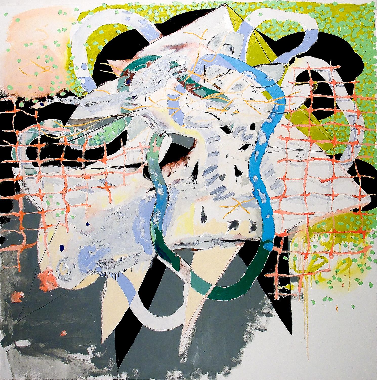 "Gill Net (Laocoön Series) , 2010 Oil on canvas 62 x 62"""