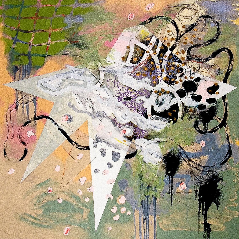 "Deepwater Horizon , 2011 Oil on canvas 48 x 48"""