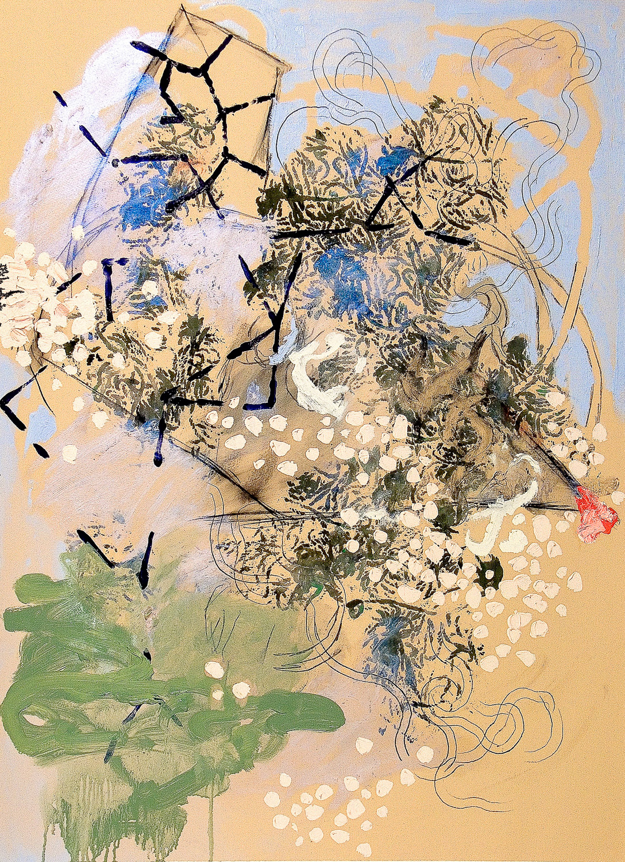 "Untitled (Laocoön Series) , 2010 Oil on paper 30 x 22"""
