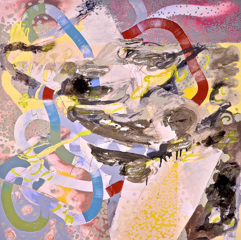 "Winter Maelstrom , 2010 Oil on canvas 48 x 48"""