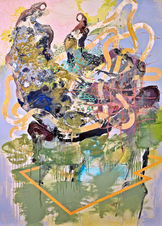 """Untitled (Laocoön Series) , 2012 Oil on canvas 92 x 74"""""""