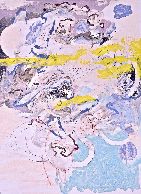 "Untitled (Laocoön Series) , 2012 Oil on paper 30 x 22"""