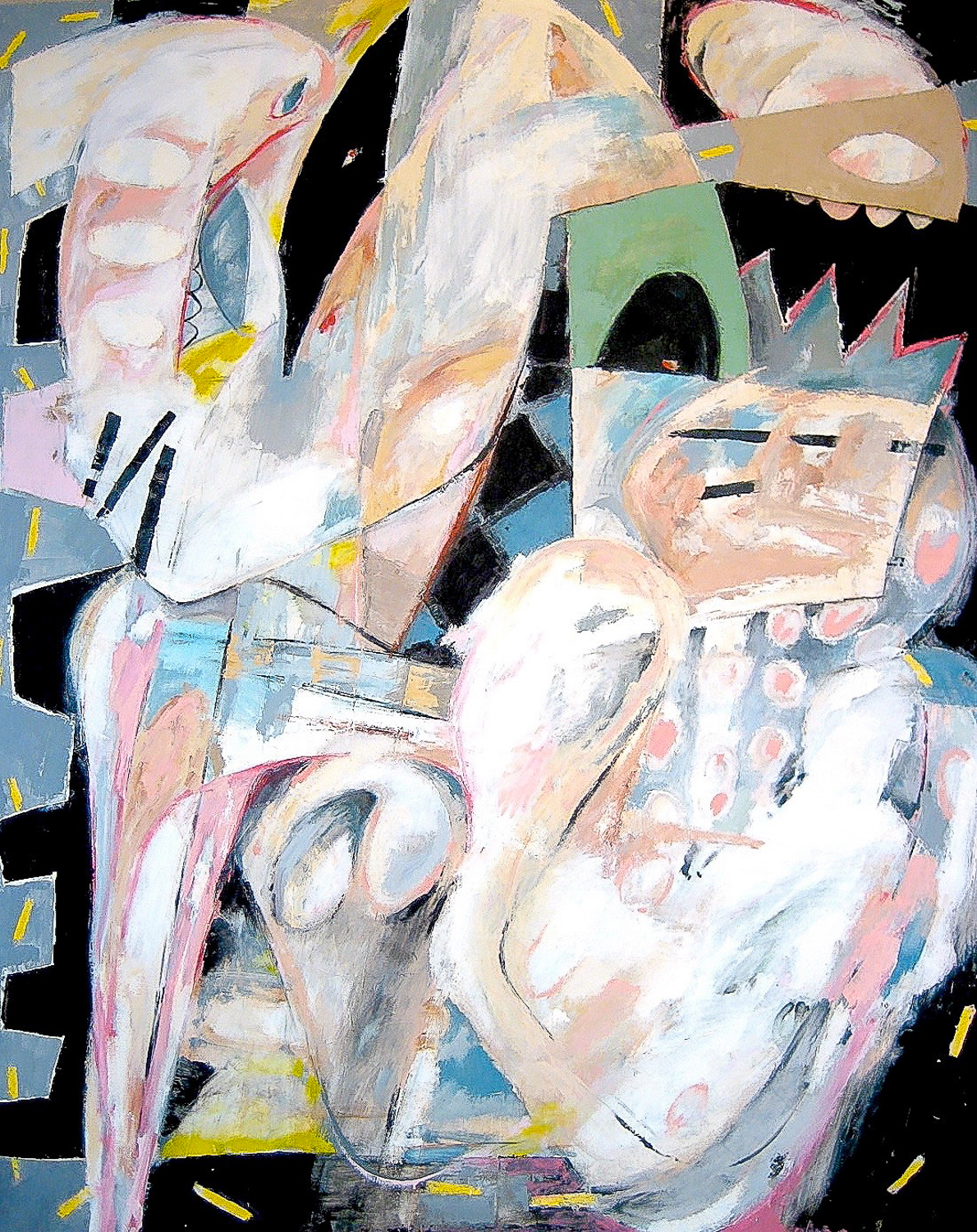 Perverse, Impotent, or Blind?  , 2007 Oil on canvas 92 x 74""