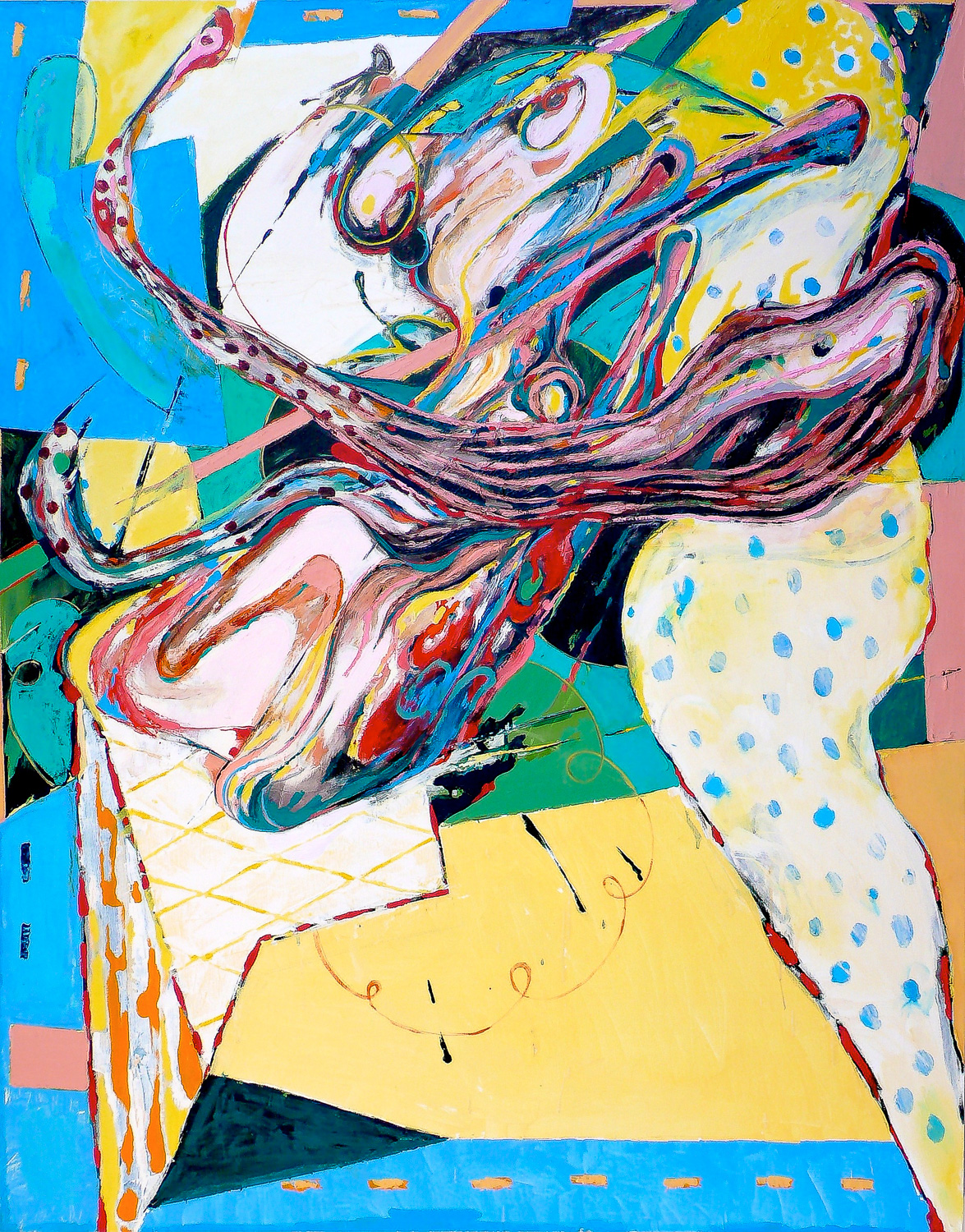 Mocking Clown , 2006 Oil on canvas 60 x 48""