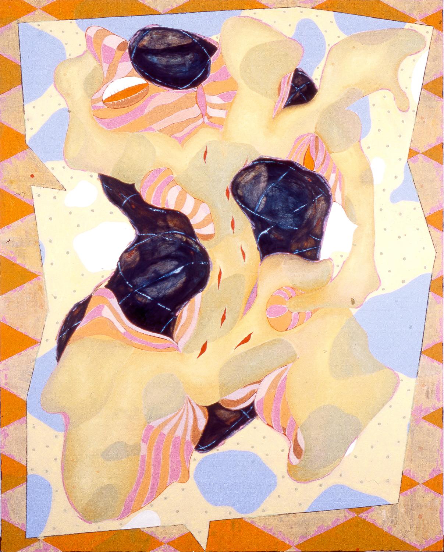 "Psychosomatic #4 , 2002   Oil on canvas   92 x 74"""