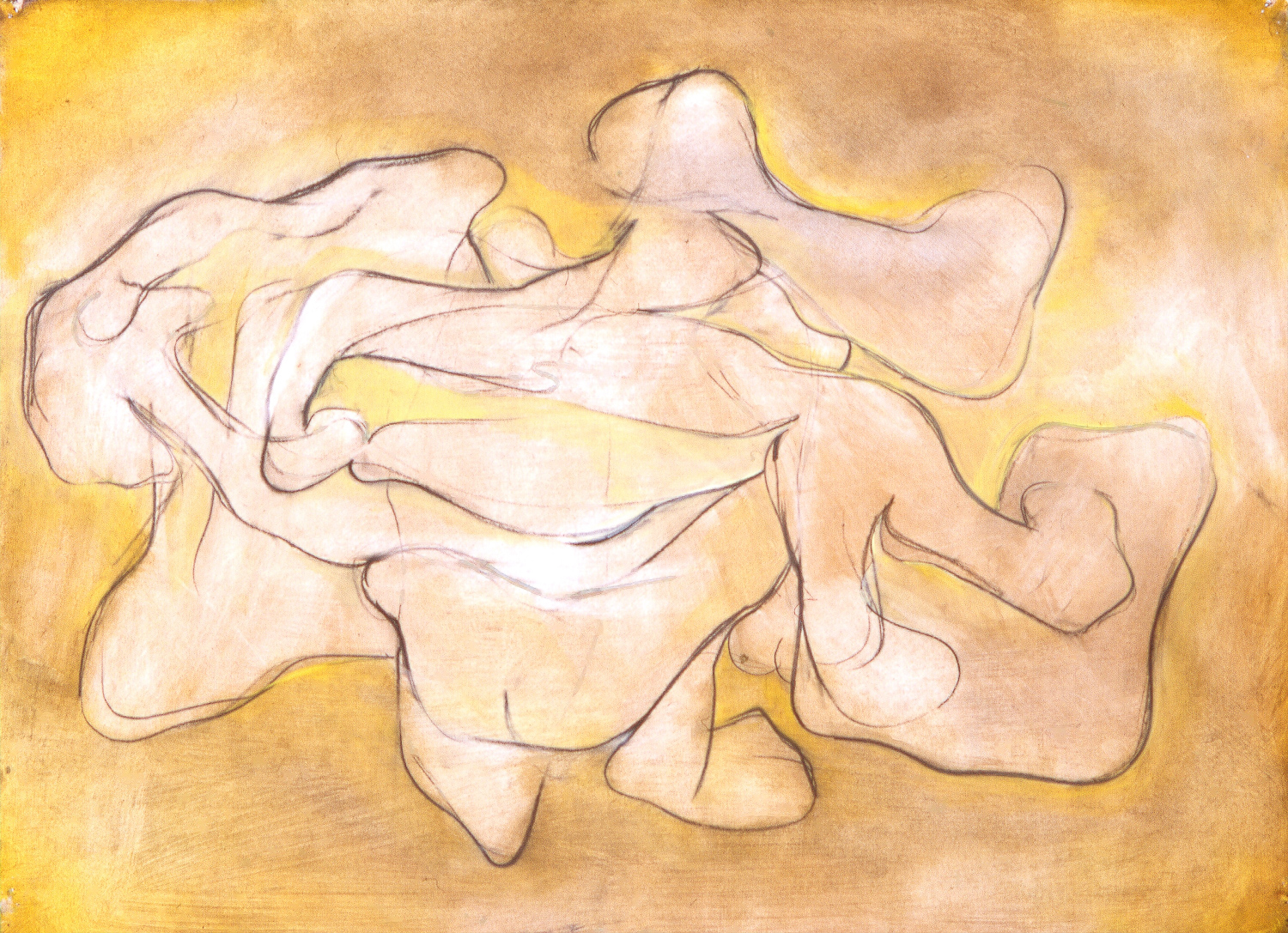 Untitled , 2004   Oil on paper   24 x 36""