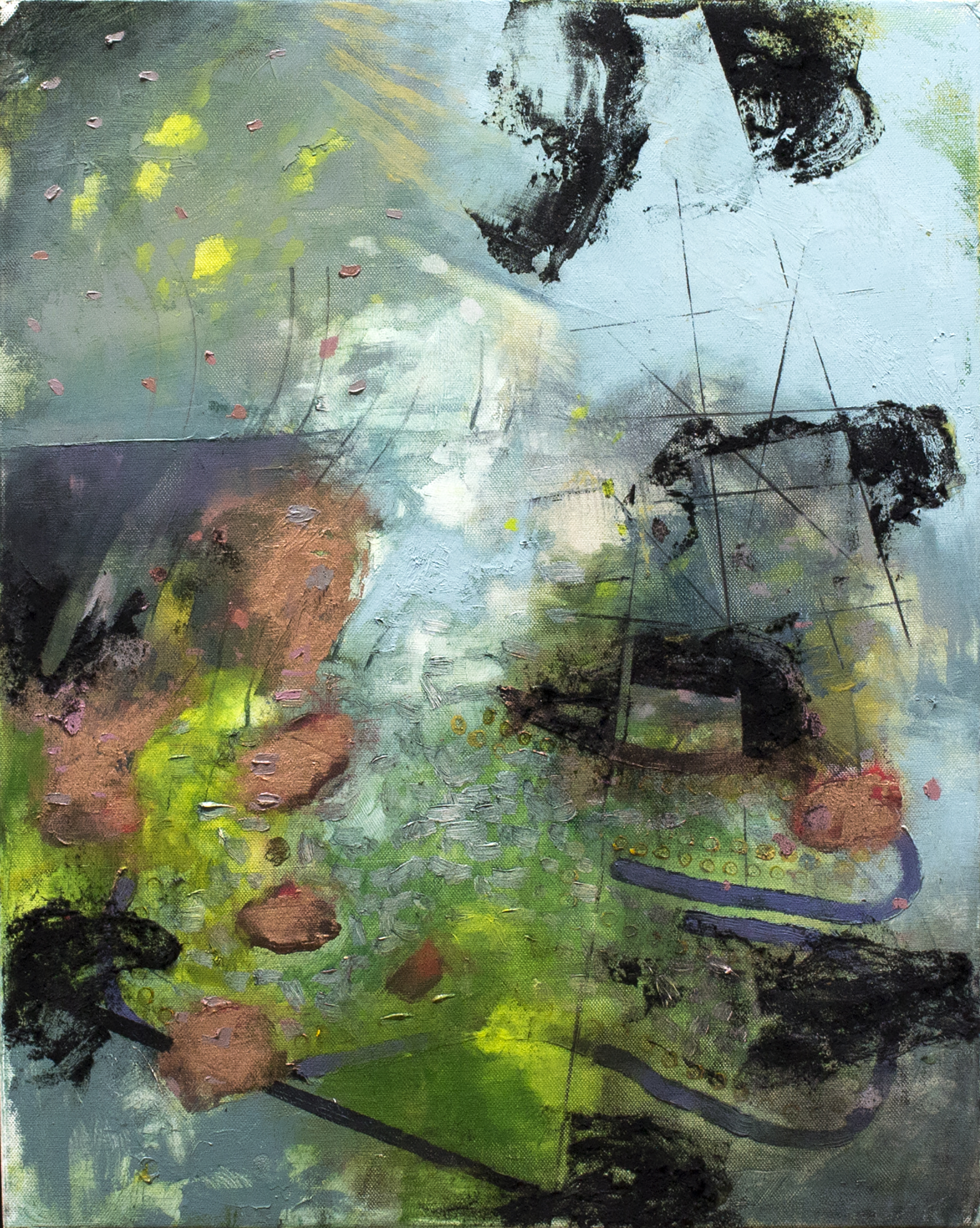 "Leaching Light , 2018 oil on canvas 18 x 24"""