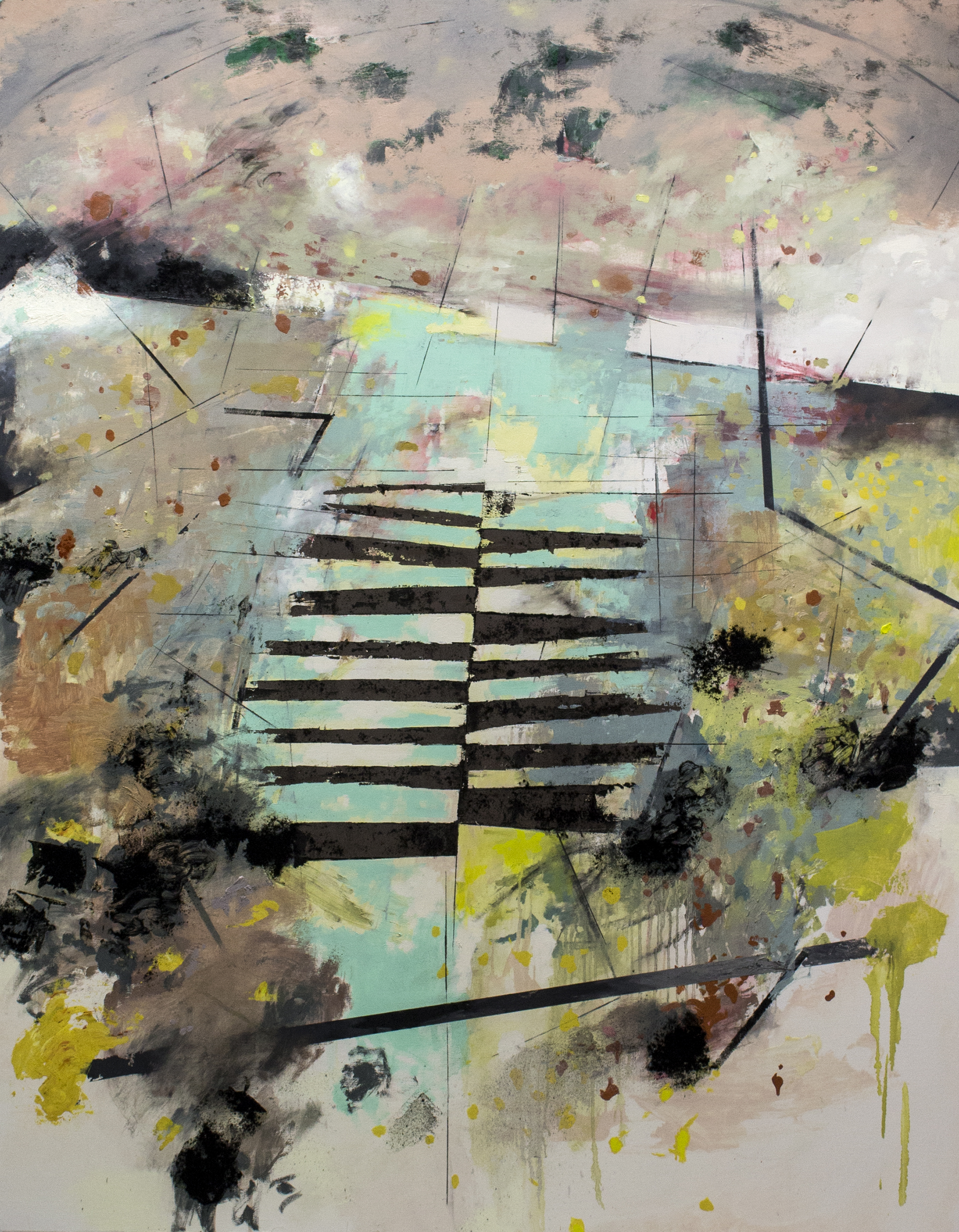 "Horizon , 2017 oil on canvas 48 x 61.5"""