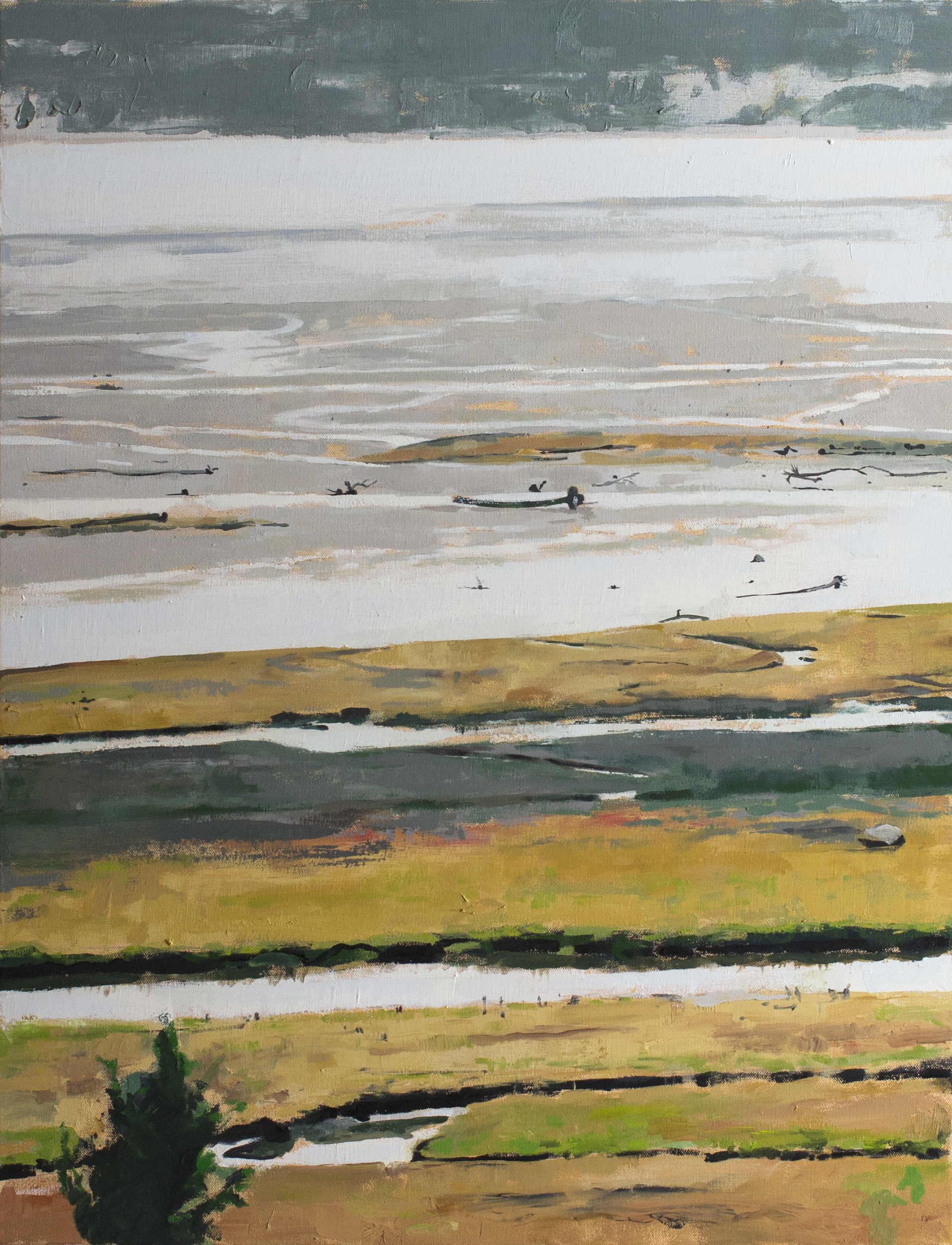 "Stillaguamish Estuary , 2017 oil on canvas 24 x 30"""