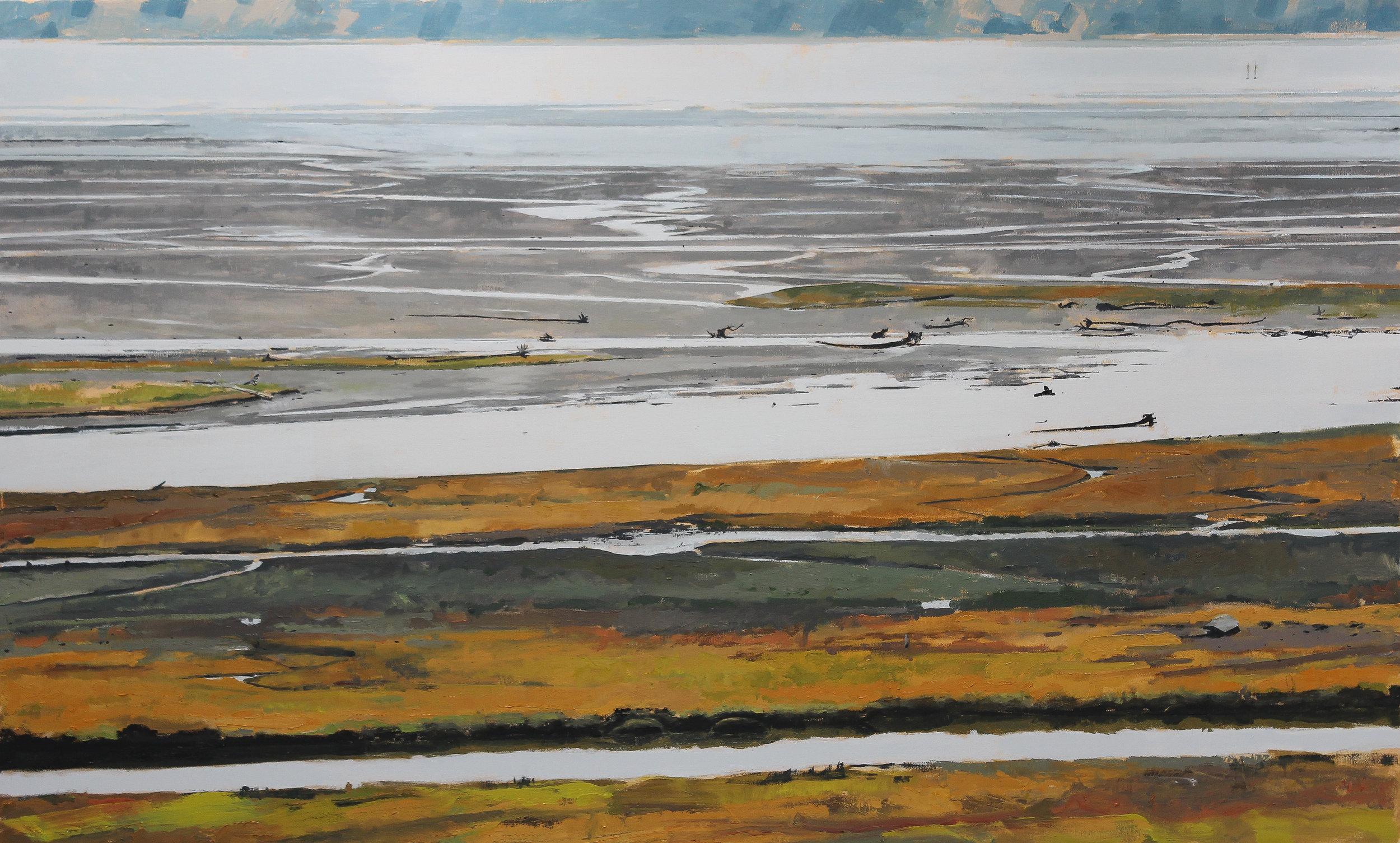 "Stillaguamish Estuary #3 , 2018 oil on canvas 66 x 39"""