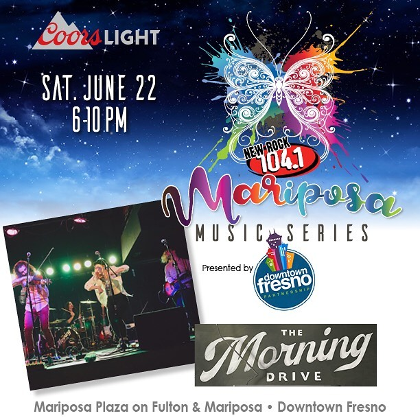 Excited to be part of the new @newrock1041 Mariposa Music Series this summer. We're up next Saturday evening, June 22 from 7-10. Free show, all ages, right across from the Security Bank Building in Downtown Fresno. . . . #supportlocal #downtownfresno #fresnonights #livemusic #supportlocalradio #themorningdrive #tmd #shewantsthesax