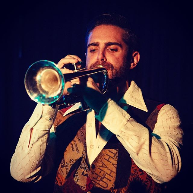 Bet y'all didn't know @ryangosling_private plays trumpet in our band. Come see for yourself this Friday, Aug 23 at @strummersfresno! Music starts at 8pm with @theriverwilde, then us, then our boyz @wgsmusic! . . . 📷 @jamesramirez.media #fresnonights #brassmeansbusiness #fresnomusicians #ryangosling #evanshot #livemusic #trumpet #tmd #themorningdrive #towerdistrictfresno