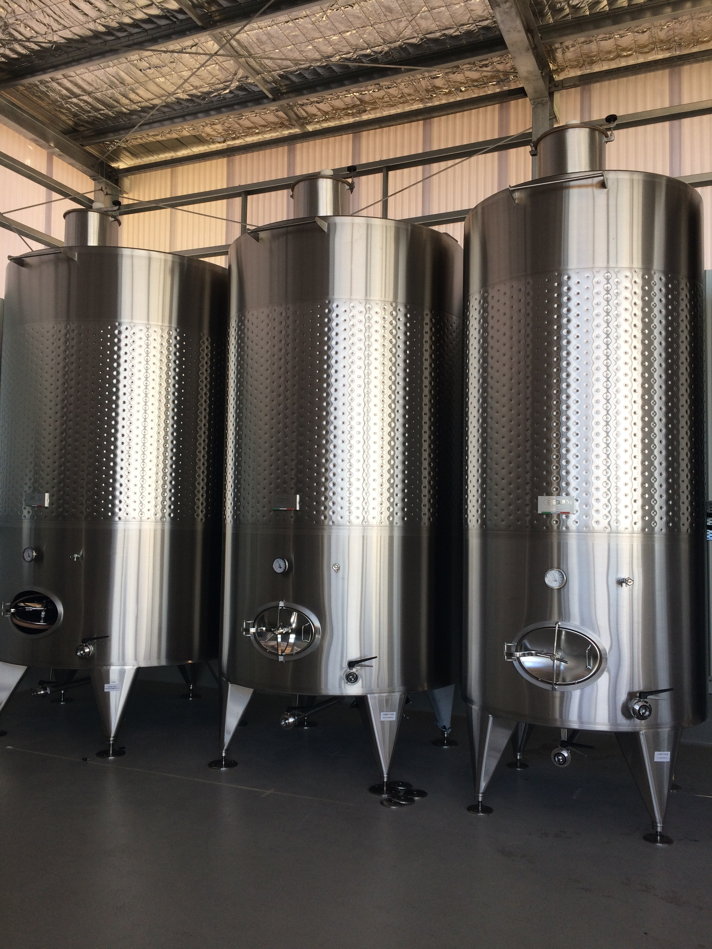 Sexy, shiny tanks in place