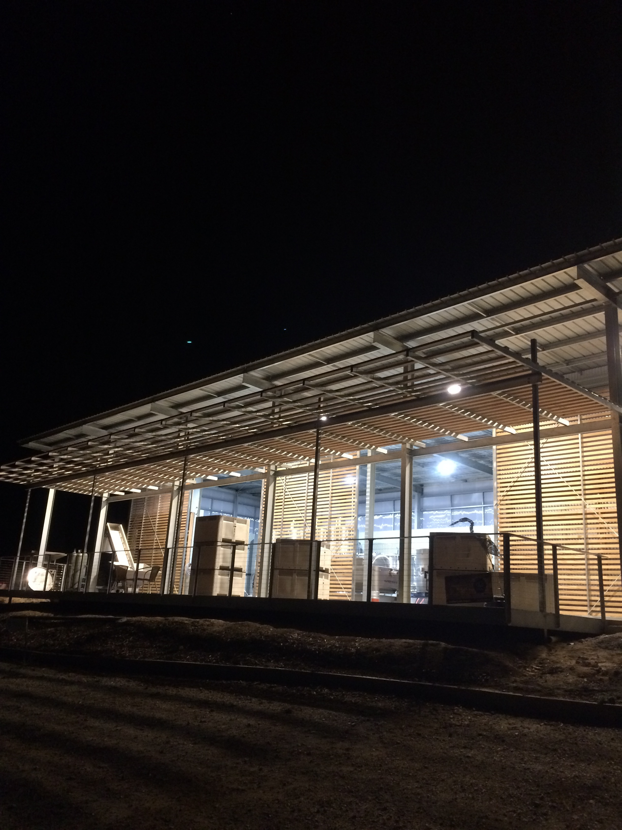 81kw hours of battery storage means we can keep the winery working through the night.