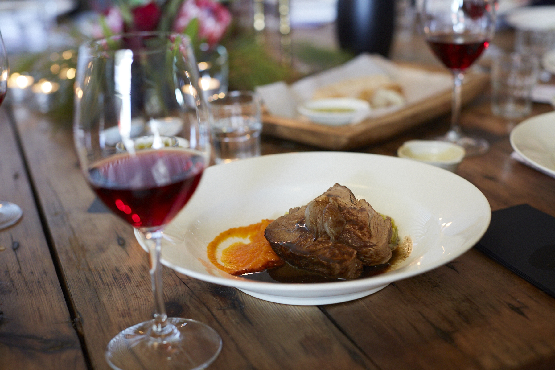 Pinot Noir and Roast blade of beef, delicious!