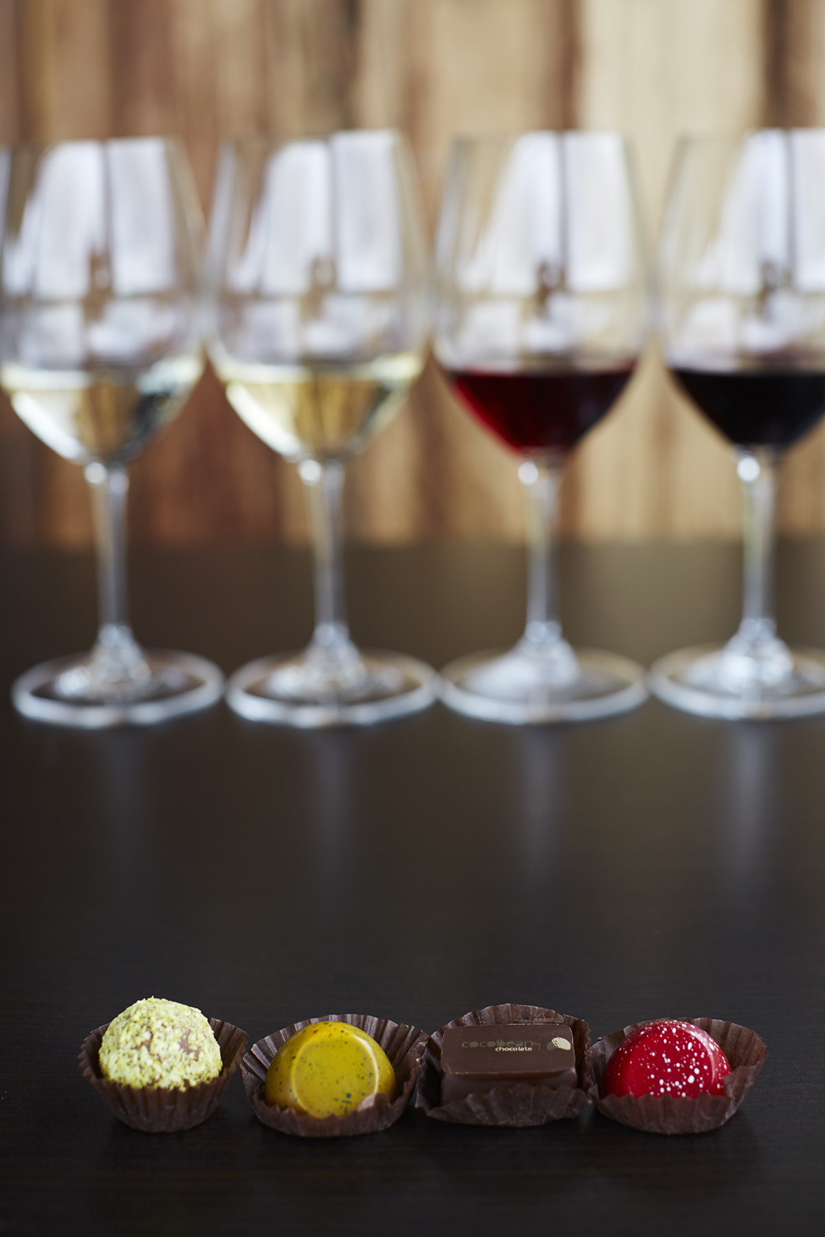 Decadent truffles matched with our wines