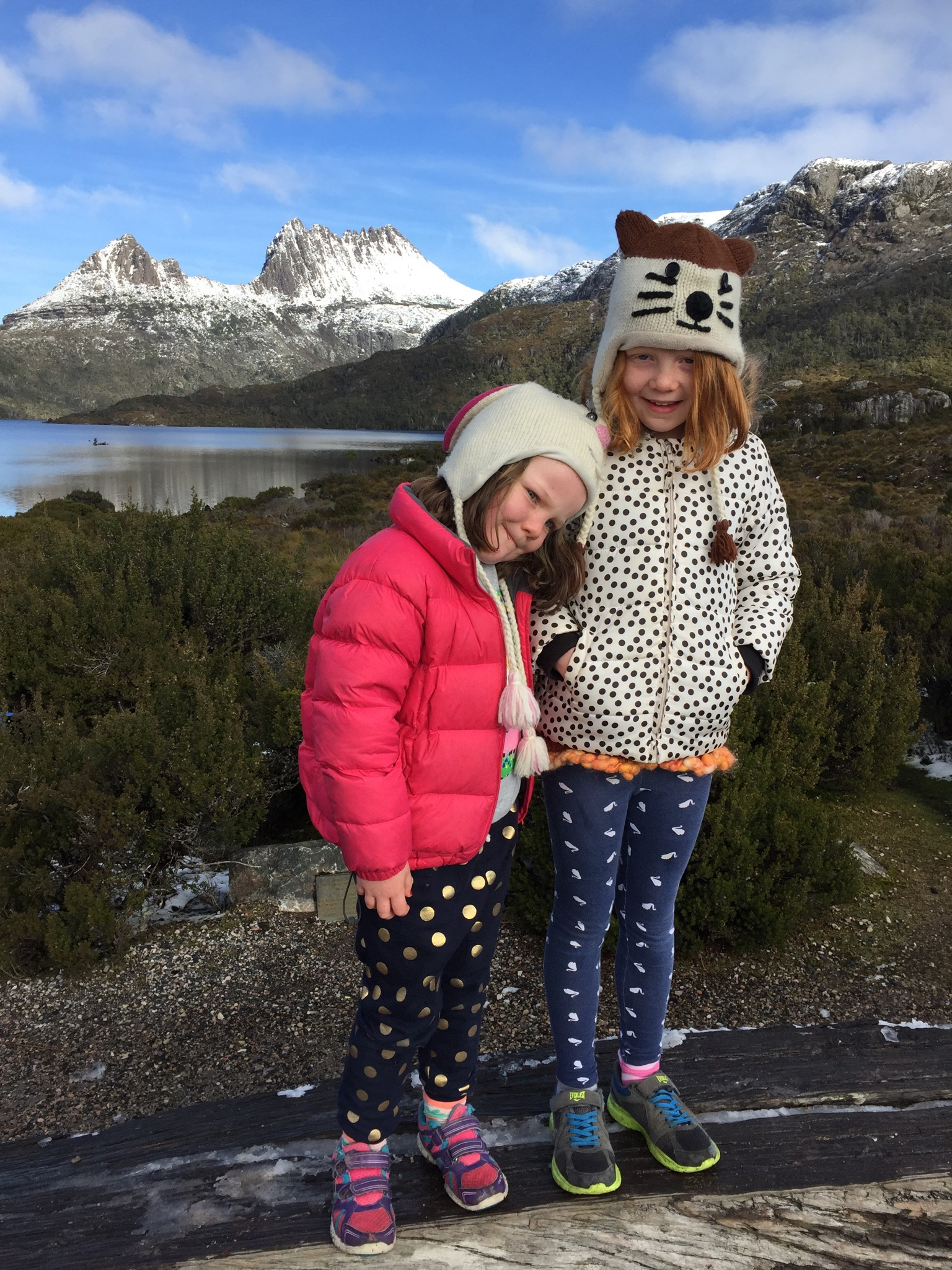 Rug up and enjoy the snow and ice at Cradle Mountain
