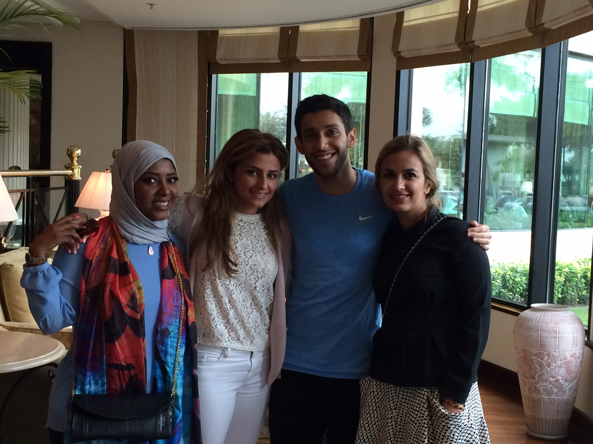 With the wonderful Hamsa Johar.