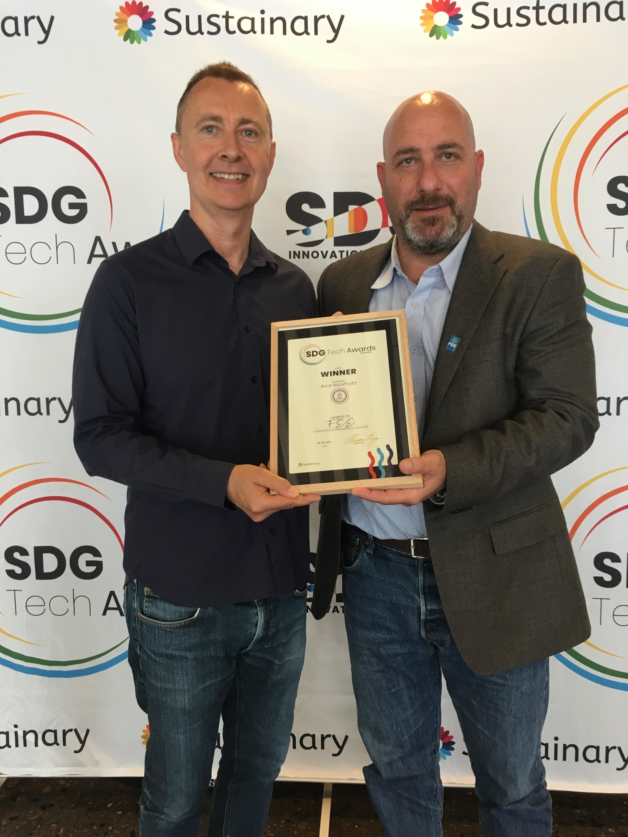 FEE wins Best Non-Profit at the SDG Tech Awards
