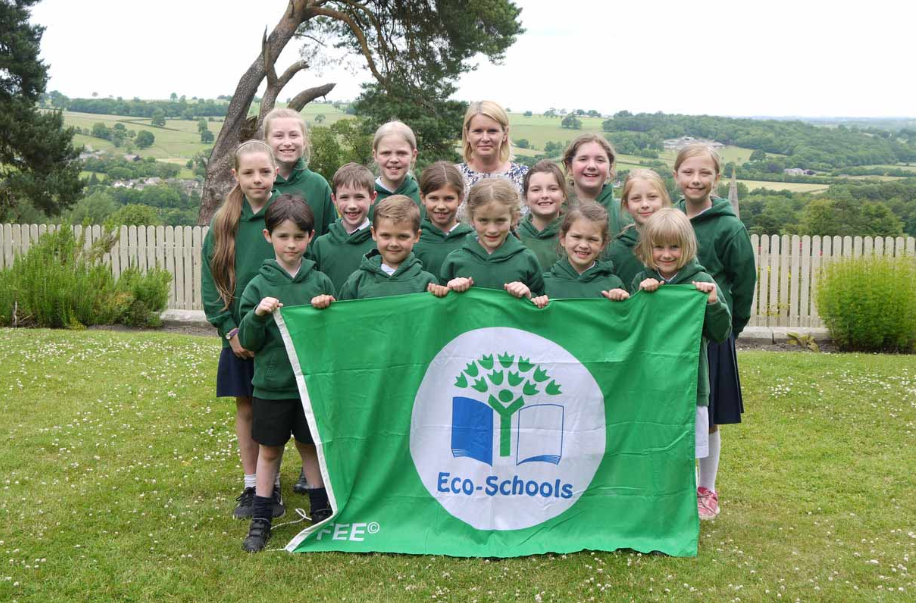BGS teacher Nicola Shillam and members of the Belmont Grosvenor School Eco clubs