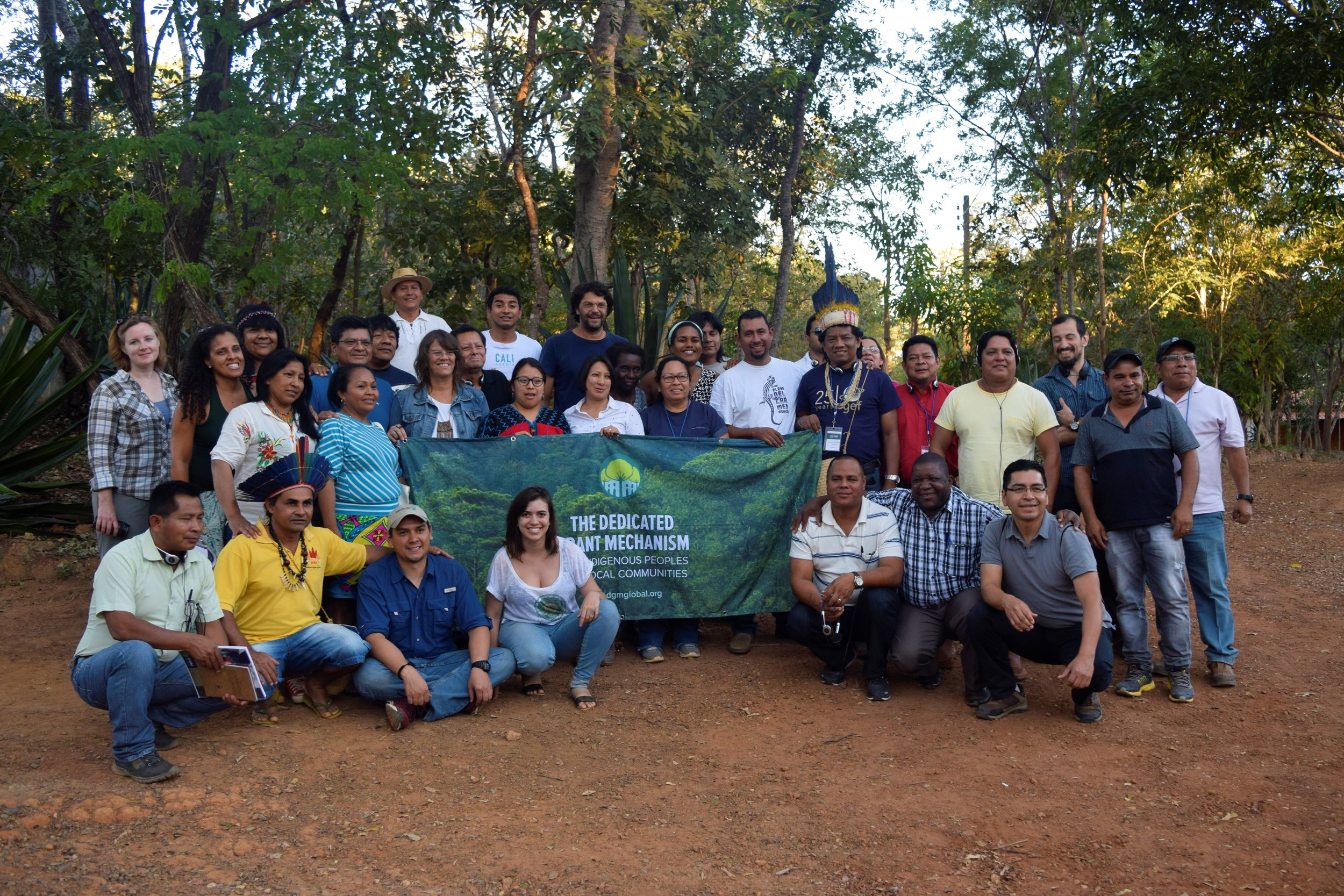 Representatives of indigenous peoples and local communities from all over Latin America gathered in Minas Gerais, Brazil in June 2017 to exchange knowledge and enhance their collaboration in the region. Photo Credit: DGM Brazil