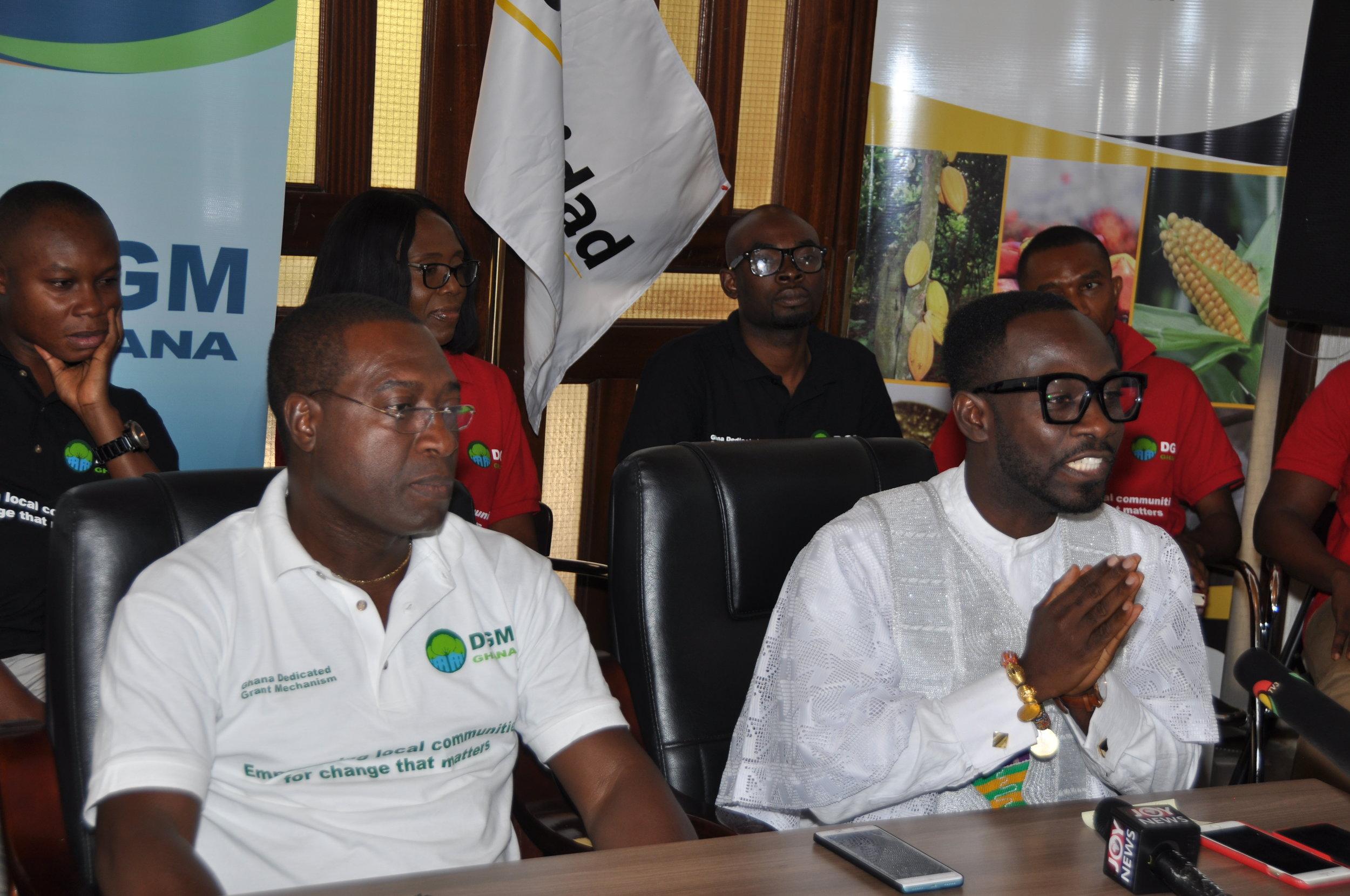 Okyeame Kwame addressing the staff of Solidaridad West Africa; Credit: Bossman Owusu, DGM Ghana