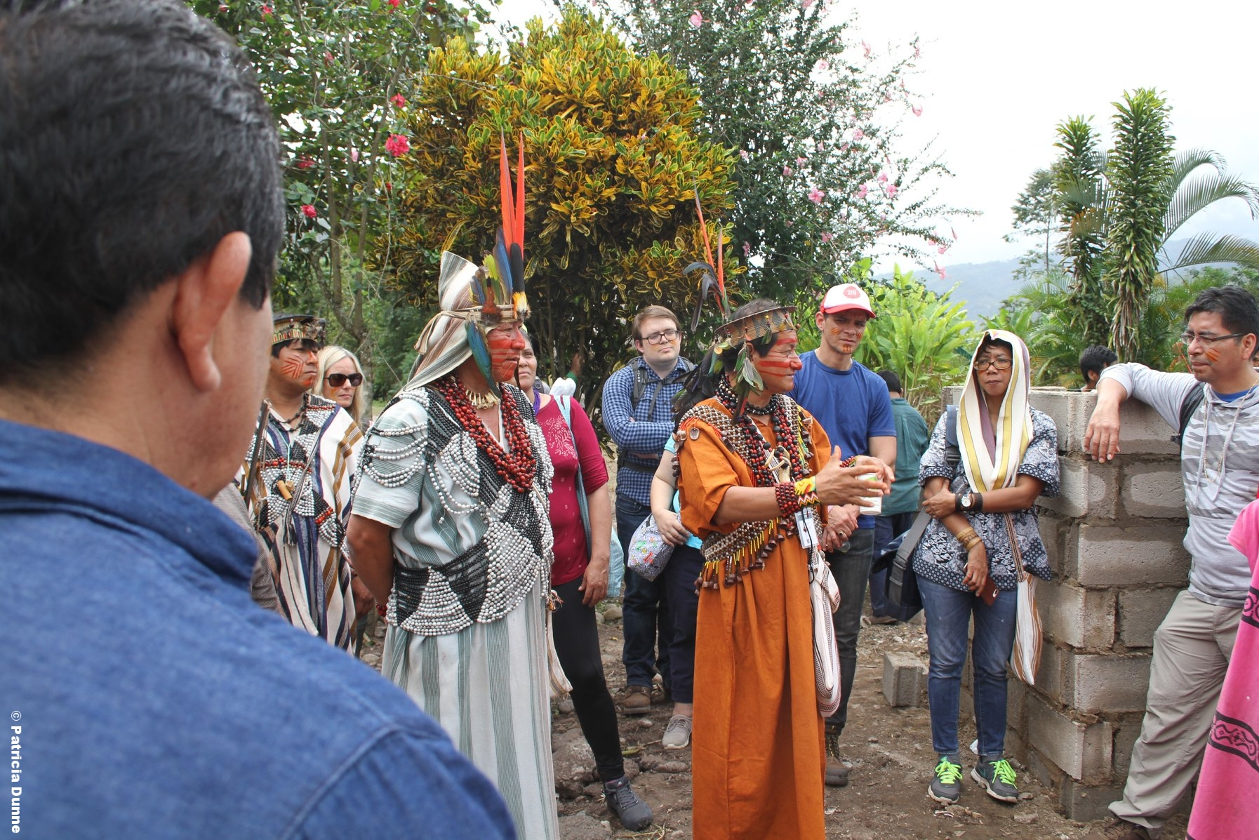 Leaders from the Pampa Michi native community and ARPI-SC explaining the subproject they are implementing with support from DGM Peru